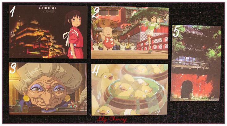 "Mini Carte ghibli totoro kiki chihiro arrietty ponyo mononoké asiatique ""modéle 2"" x1 : Papeterie, carterie par lilycherry"