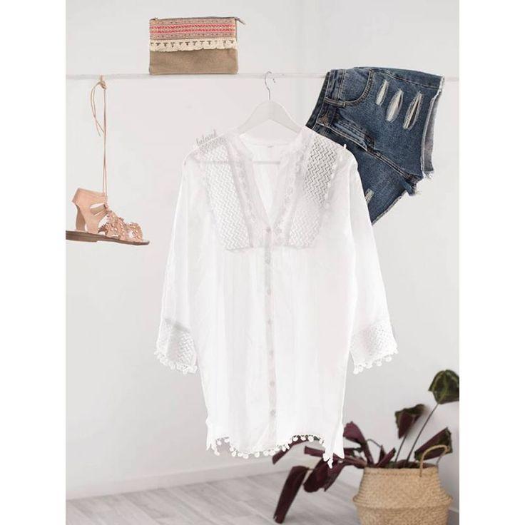 Aisha White Shirt Blouse