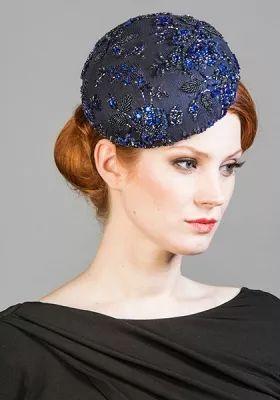 Rachel Trevor-Morgan :: Embellished royal blue Jackie O pillbox