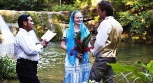 bride in costa rika  best destination for honeymooners