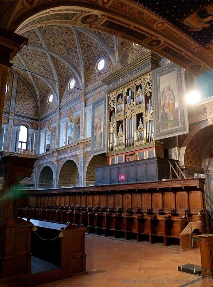 Milan (Italy) - Church of San Maurizio al Monastero Maggiore - Nuns' hall For exif info and full size image visit web site!