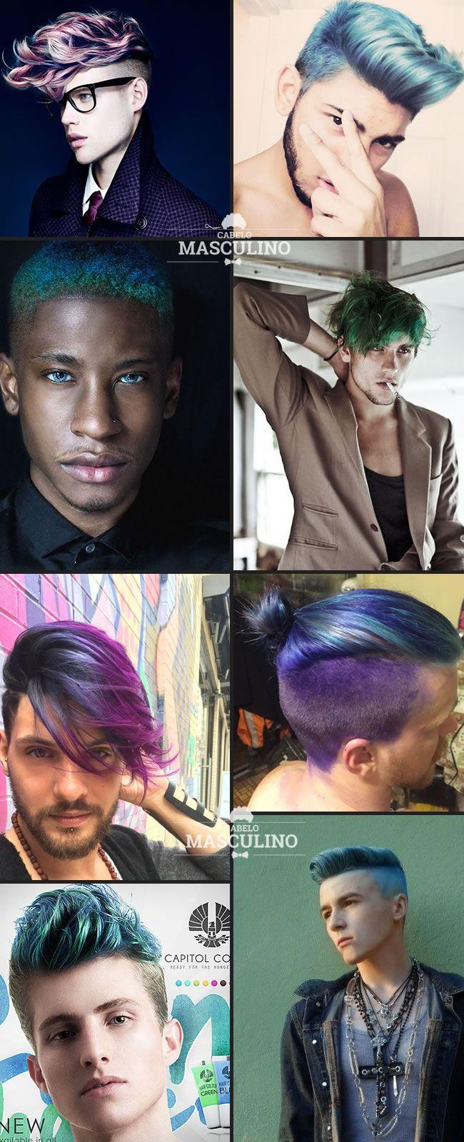 Muita cor! Cabelo masculino colorido é tendência para 2016