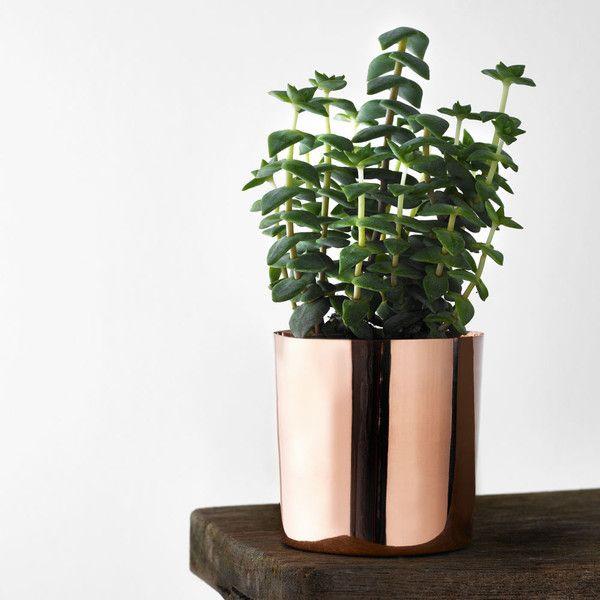 bloomingville copper flower pot