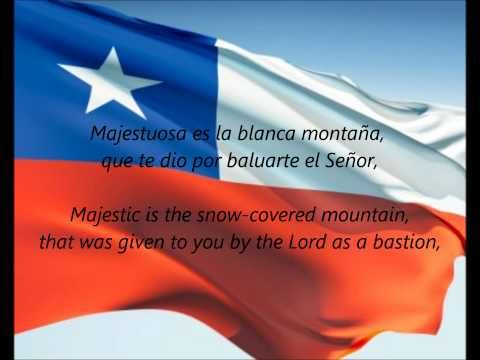 """National Anthem of Chile - ""Himno Nacional De Chile"" (Chilean National Anthem)""    Includes lyrics in both Spanish (Chile) and English."