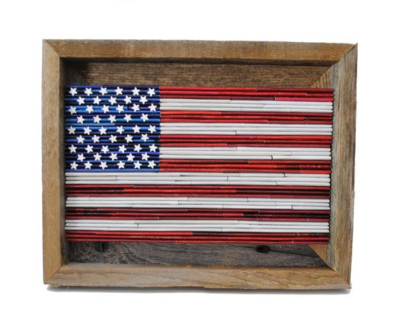 Memorial Day Sale  SMALL American Flag rustic by colorstorydesigns
