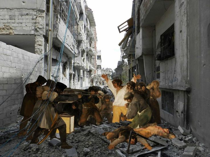 """tammam azzam's rendition of goya's """"third of may 1808"""""""