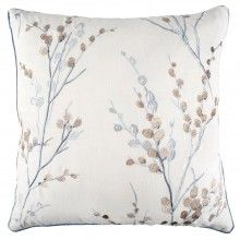Pussy Willow Cushion in Off White
