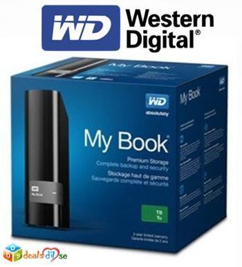 WD My Book (WDBFJK0030HBK) 3 TB Portable External Hard Drive (Black) @ Rs.6,655/-