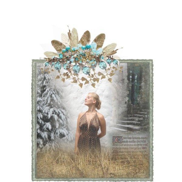 """A Vision."" by arxrosarum on Polyvore. Earrings: ArxRosarum.etsy.com; Dress: SILHUETTE.etsy.com, Bracelet: Liberty.co.uk."