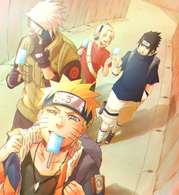 Team7 Equipo 7 kakashi sasuke sakura y naruto