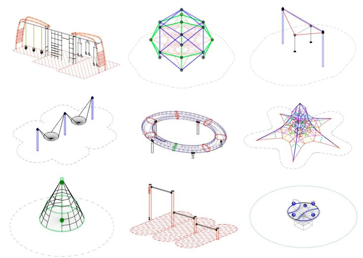 Gallery of Download 15 Free CAD Blocks and Files for Playground Equipment - 1