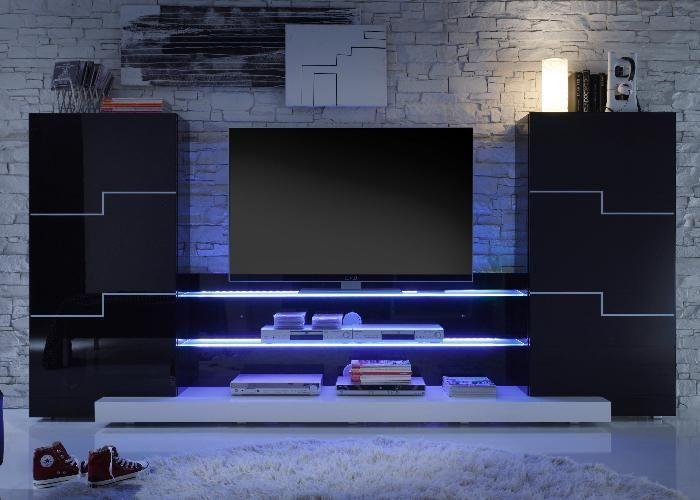wohnwand spot der kinosaal im wohnzimmer for the home pinterest wohnzimmer tv m bel. Black Bedroom Furniture Sets. Home Design Ideas