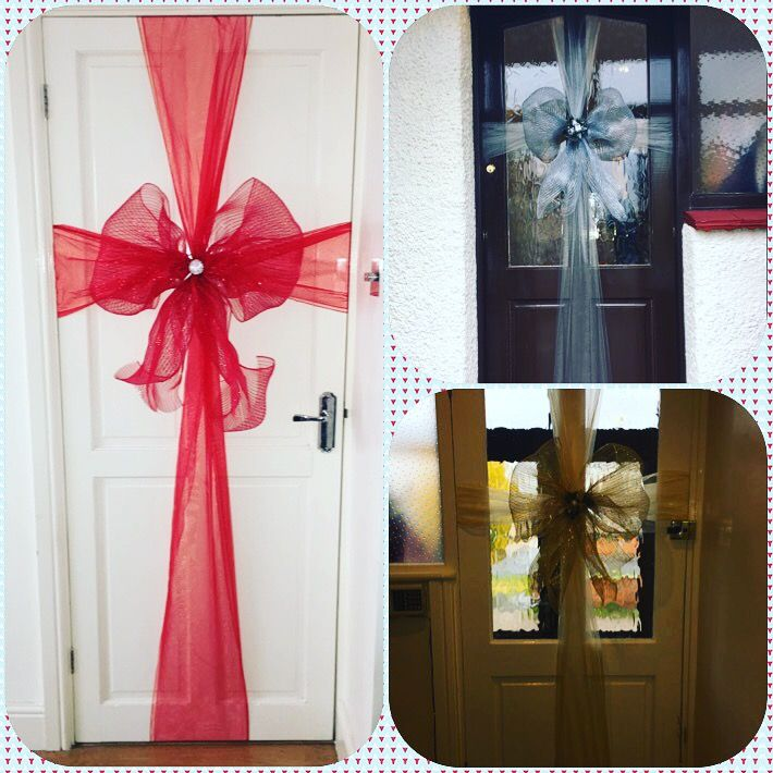 Christmas door bows by Pretty Little things in Essex //m.facebook & 149 best My Bows images on Pinterest | Christmas door Little ... pezcame.com