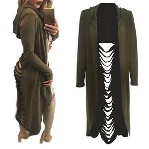 NEW Fashion Women Cardigan Sweater Long Sleeve Hooded Hoodie Outwear Jacket Coat