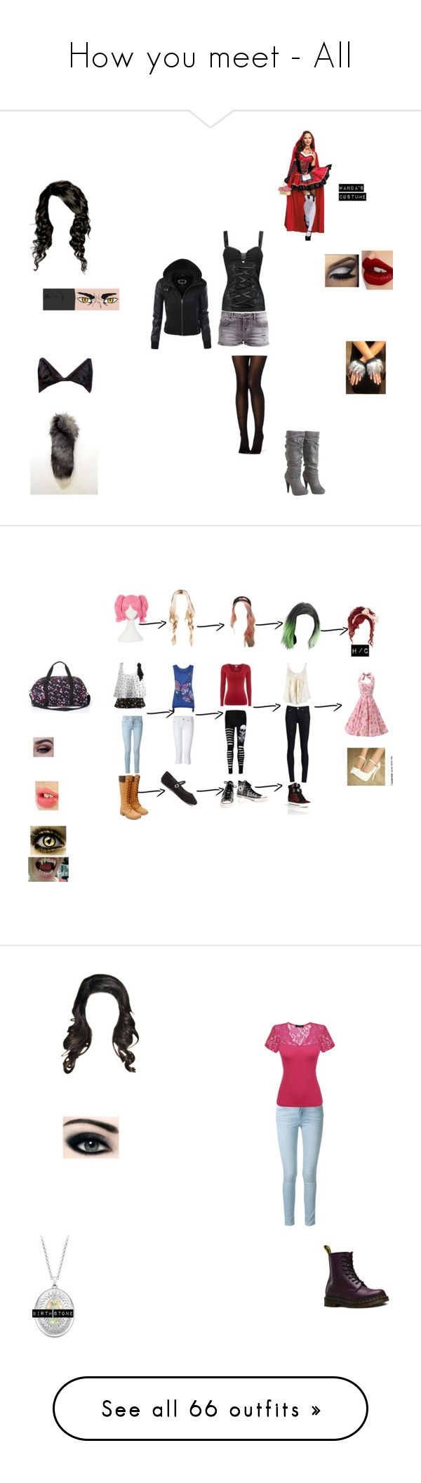 """How you meet - All"" by theglittergamer on Polyvore featuring Maison Kitsuné, LTB, Arden B., Charlotte Tilbury, KAOS, THVM, Wet Seal, White Stuff, Timberland and Victoria's Secret PINK"