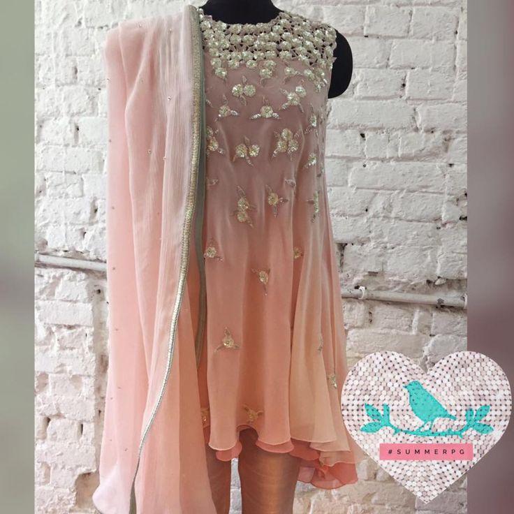 Pink cut work kurta
