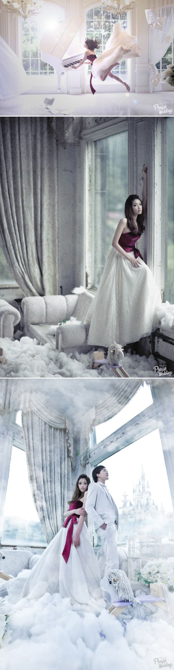 "Creating ""floating"" pre-wedding photo"