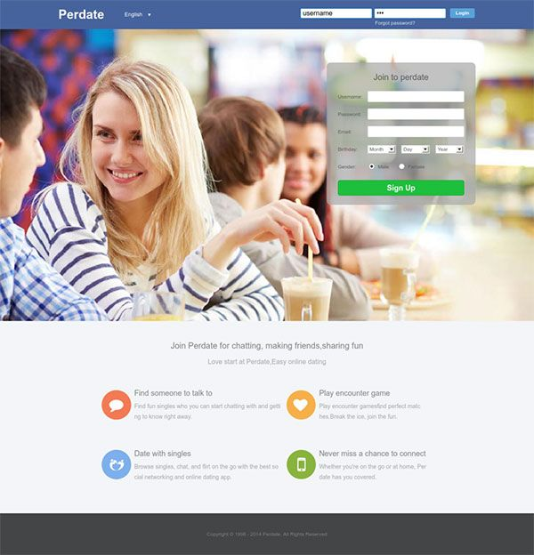 Perdate - chat, date and meet with millions people. Join our community and make new friends all around the world. Browse singles profiles, flirt online and chat with people you'd like to meet.