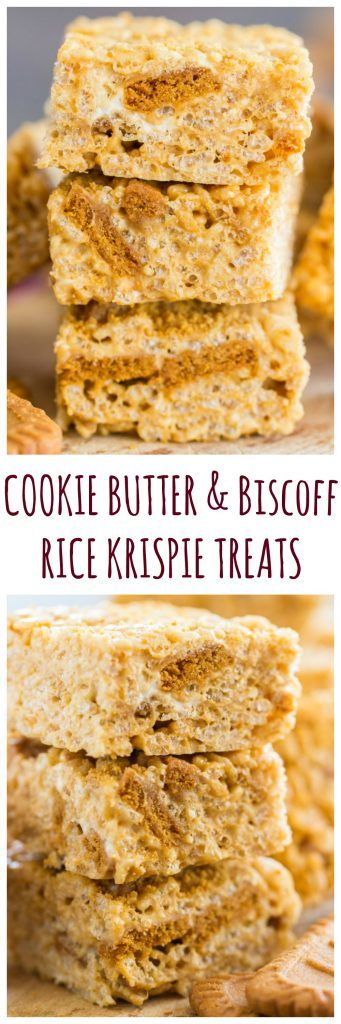With extra marshmallows for more ooey-gooey goodness, a heaping mound of cookie butter, and crunchy, cinnamony bites of Biscoff cookies, there is no way you won't adore these Cookie Butter Rice Krispie Treats.