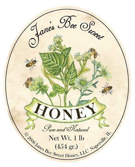 Honey label - beautiful                                                                                                                                                                                 More