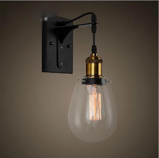 Find More Information About Loft Vintage Industrial American Country Clear  Glass Edison Wall Sconce Lamp Bathroom