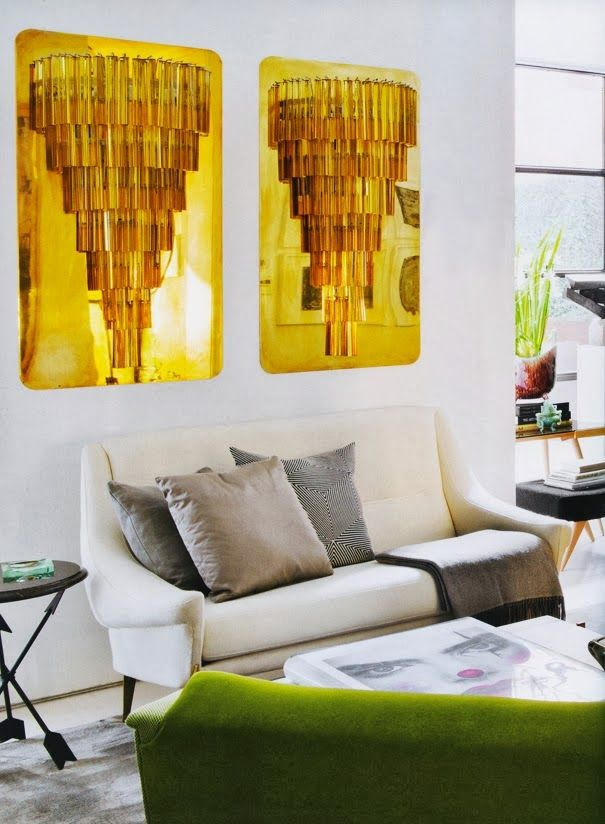 Gold Art Dreams And Modern Sofa On Pinterest