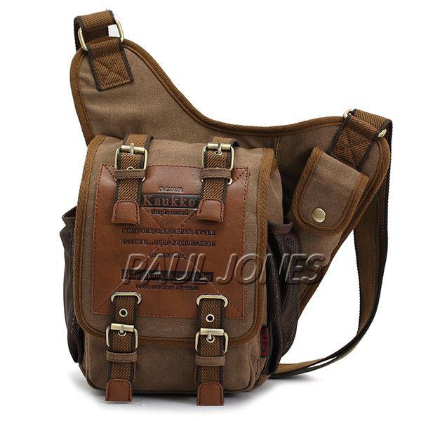 Causal Canvas Men's Travel Hiking Backpack Rucksack Bag Sports Shoulder Tote Bag