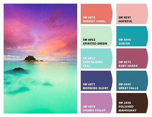 tropical color | Color schemes colour palettes, Tropical ...