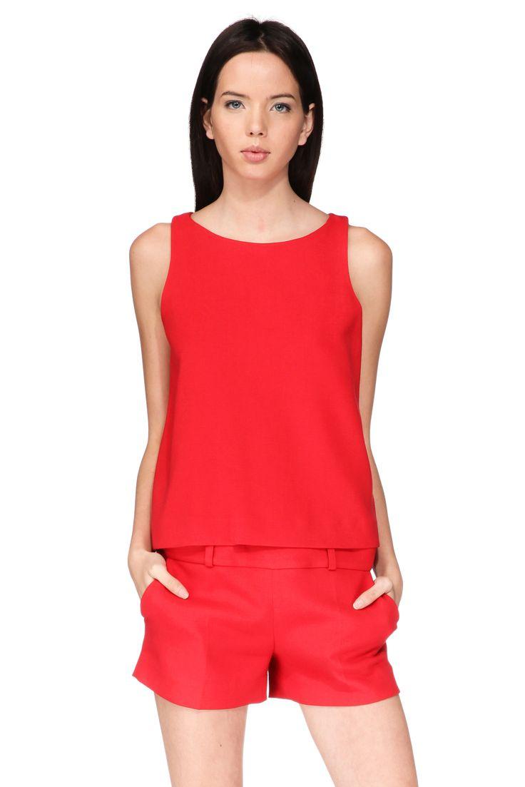 Combi-short rouge doublée Kesiah Ba&sh sur MonShowroom.com