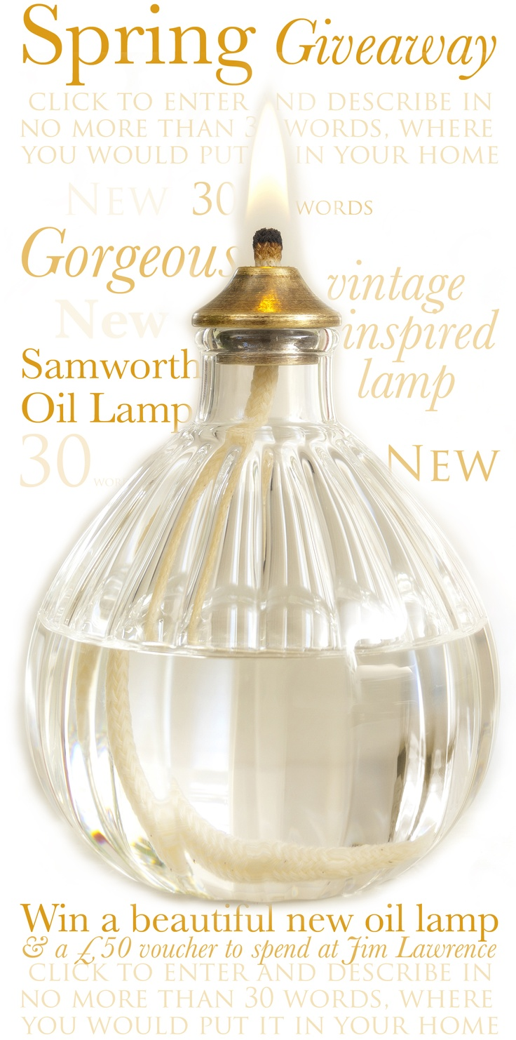 #competition #oil lamp  http://promoshq.wildfireapp.com/website/6/contests/319730