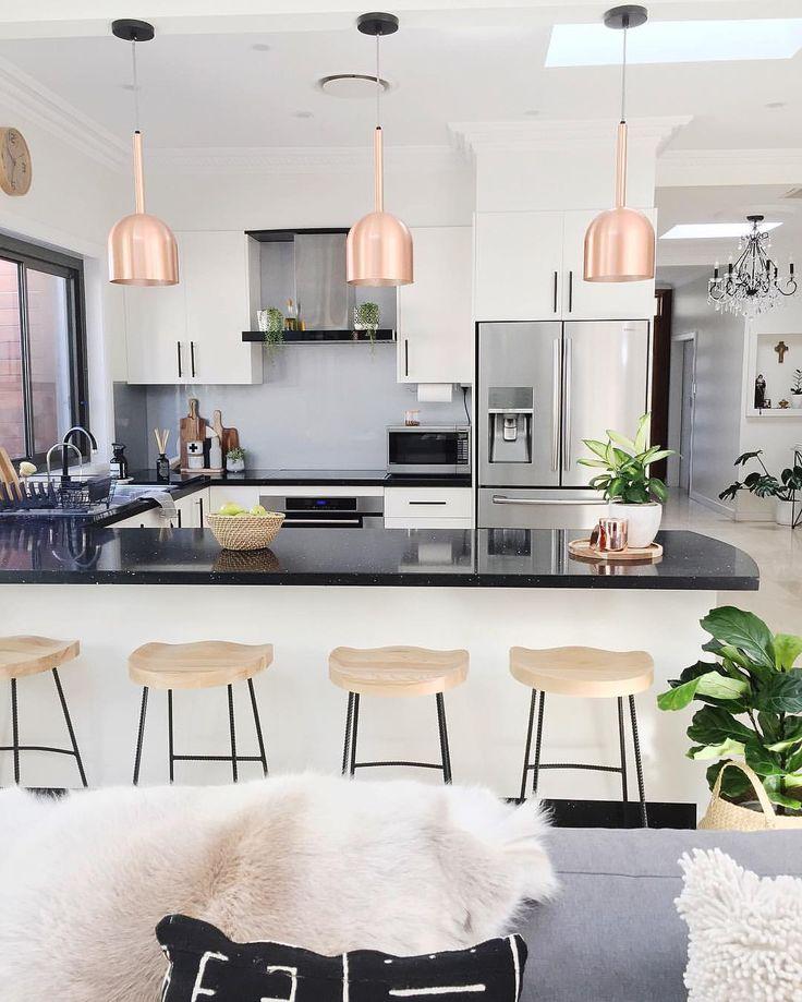 Regardez Cette Photo Instagram De Homesbycaz O 2836 Jaime Nordic KitchenCopper KitchenKitchen DiningNordic DesignNordic