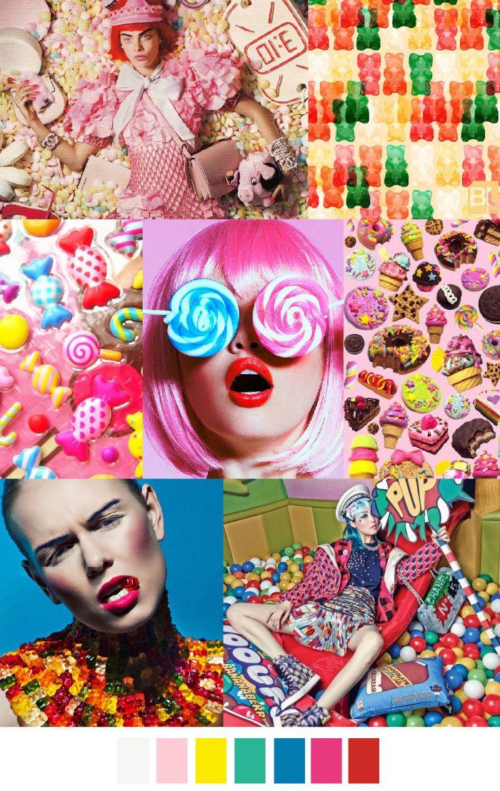 CANDY LAND SS2016 sources: bloginvoga.com, flickr.com, pinterest via amiebarron, serpentrouge.co, prcm.jp, behance.net, vogue.co.kr