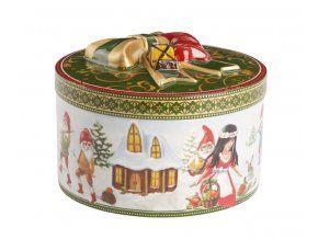 Christmas Toys dárková krabice střední kulatá Sněhurka 10cm, Villeroy & Boch