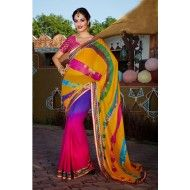 Georgette Lehriya Saree