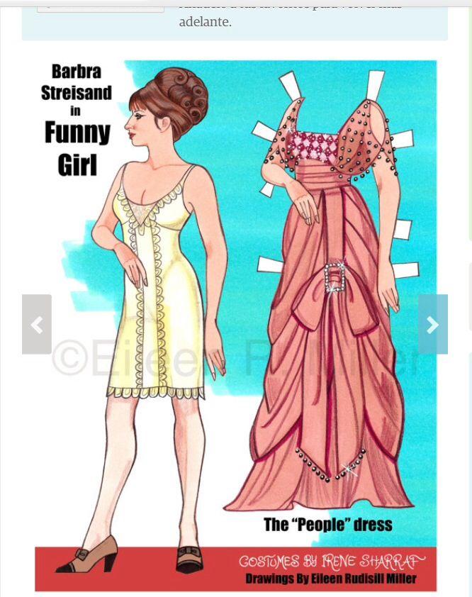 Barbra Streisand paper doll