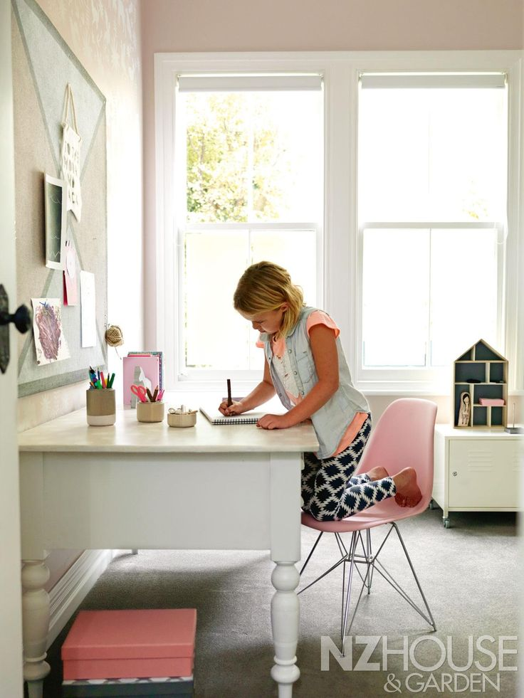 Riley's kauri desk was bought on Trade Me and painted in woodwash with gold polka dots on its top. - See more at: http://nzhouseandgarden.co.nz/the-art-of-renovating/#sthash.5Pqsq3W4.dpuf