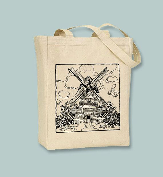 This tote features a beautifully detailed vintage windmill drawing is printed to a high quality BLACK or NATURAL canvas tote of your choice via professional grade heat transfer, preserving perfect detail and exceptional durability! This image can also be printed in ANY COLOR you like! Be sure to note what color youd like the image if you desire something other than what is pictured in the notes to seller at checkout. If you would like one of the BLACK tote options, please make certain your…