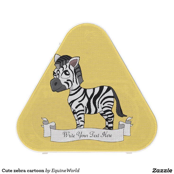 Cute zebra cartoon bluetooth speaker