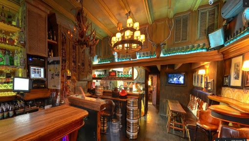 """COWBOYS BAR, Viaduct, Auckland CBD, New Zealand, """"A banana is 105 Calories, a shot of whiskey is 80 Calories... Choose wisely"""", creative interior styling by Ton van der Veer"""