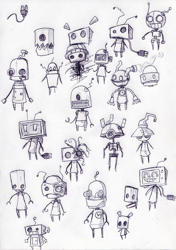 roboter cute tattoo - Google-Suche