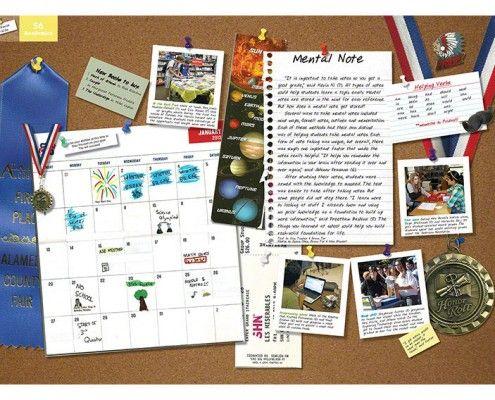 Harvest Park Middle School (Pleasanton, CA) | 2013 Yearbook Divider | Book Theme: Take Note | Printed by Herff Jones