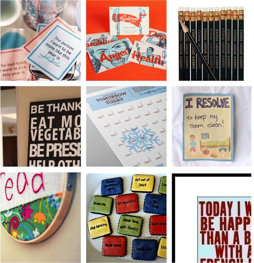 link to 10 fun ways to display resolutions to keep them in front of me all the time - I need visual reminders