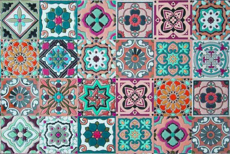 Vintage ceramic tile patterns from Portugal | dekupaj dekor ...