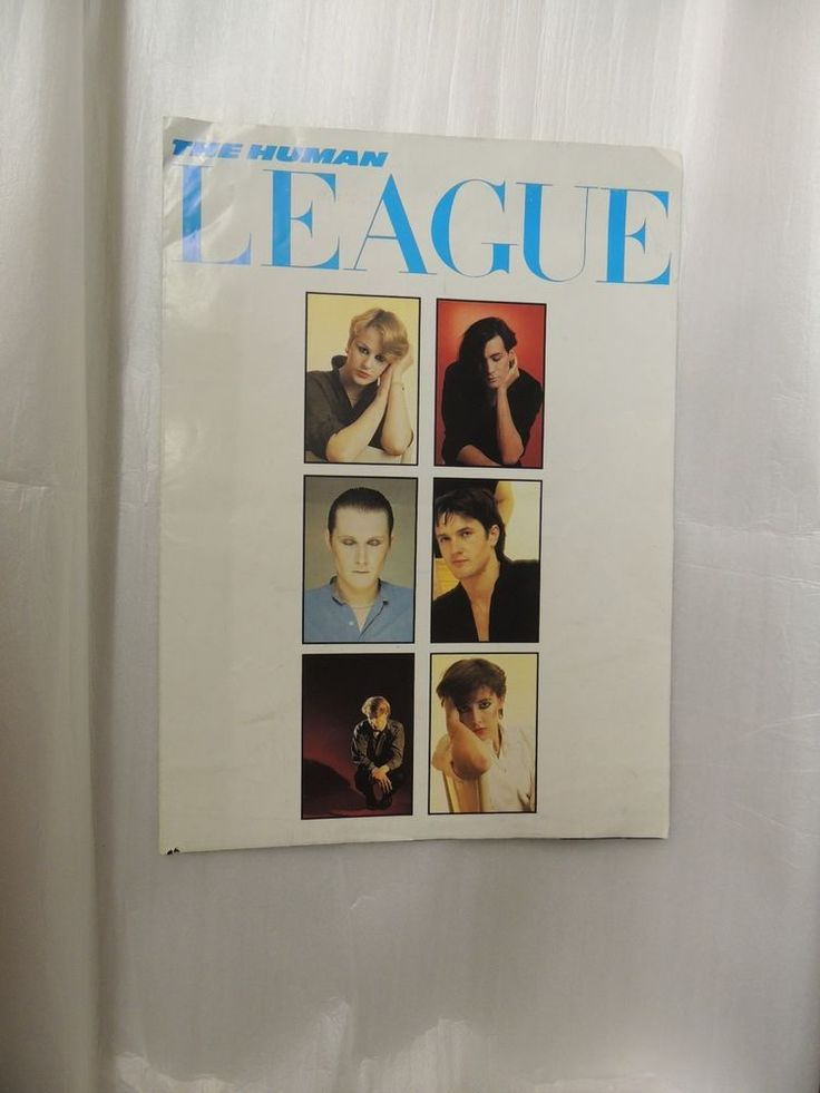 Vintage 1980's The Human League Dare Fold Out Poster Concert Program Music WOW