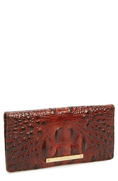 Brahmin 'Ady' Croc Embossed Continental Wallet available at #Nordstrom