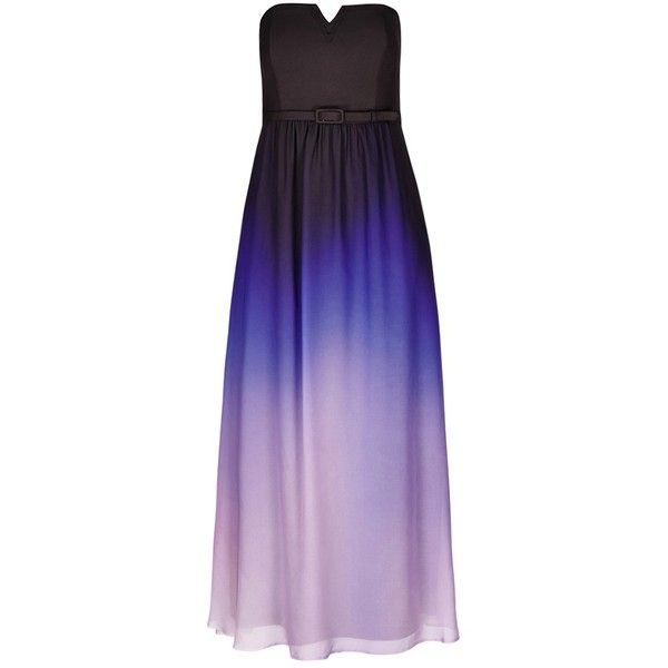 City Chic Ombre Lust Maxi Dress ($149) ❤ liked on Polyvore featuring dresses, gowns, maxi dress, purple gown, cut out dress, cutout maxi dress and evening maxi dresses