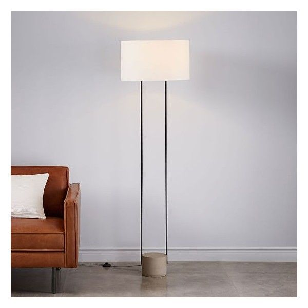 West Elm Industrial Outline Floor Lamp 249 Liked On Polyvore