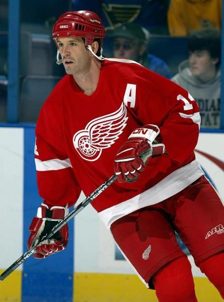 Detroit Red Wings Brendan Shanahan He was my favorite player growing up. Gotta love shanny!