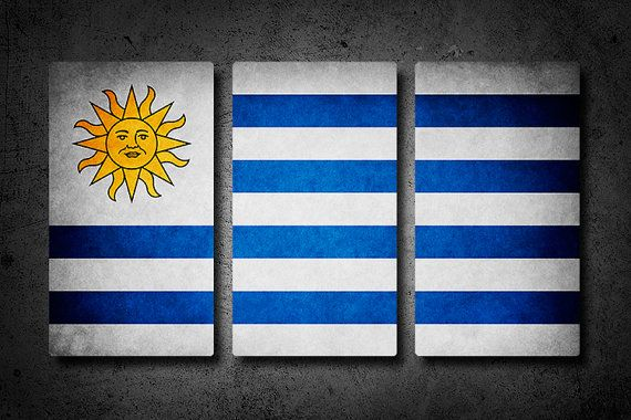 Uruguay metal flag wall art #worldcup #brazil2014