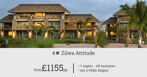 Book Zilwa Attitude to add a unique attitude your Mauritius holiday! 2 free nights with this amazing 7-night package.